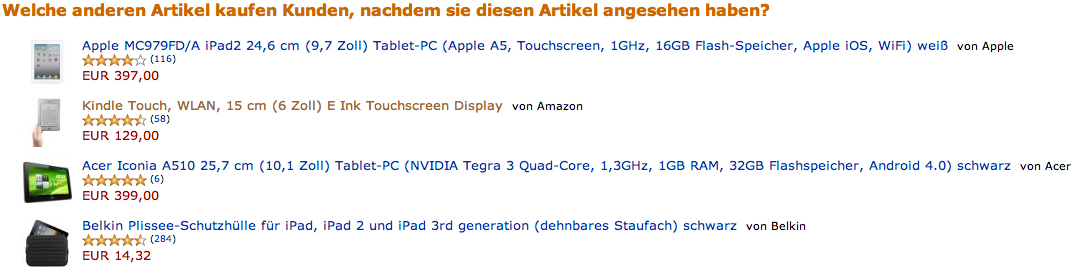 Recommendations lassen schon mal die E-Commerce Kassen klingeln