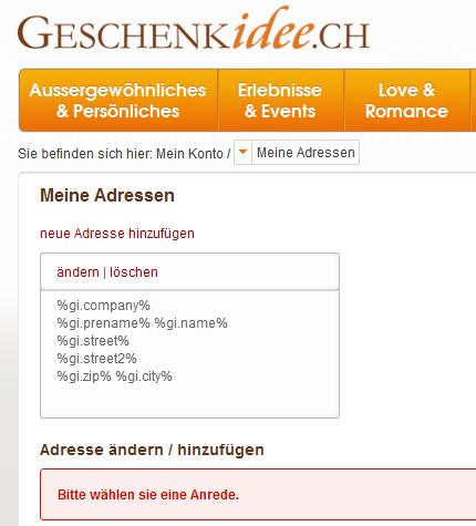 Geschenkidee.ch – Qualitätsprobleme nach dem Relaunch