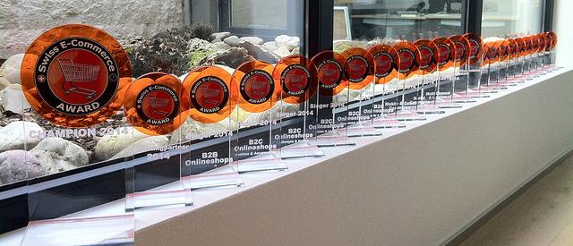 Swiss E-Commerce Award 2014: Die Trophäen warten auf die glücklichen Gewinner