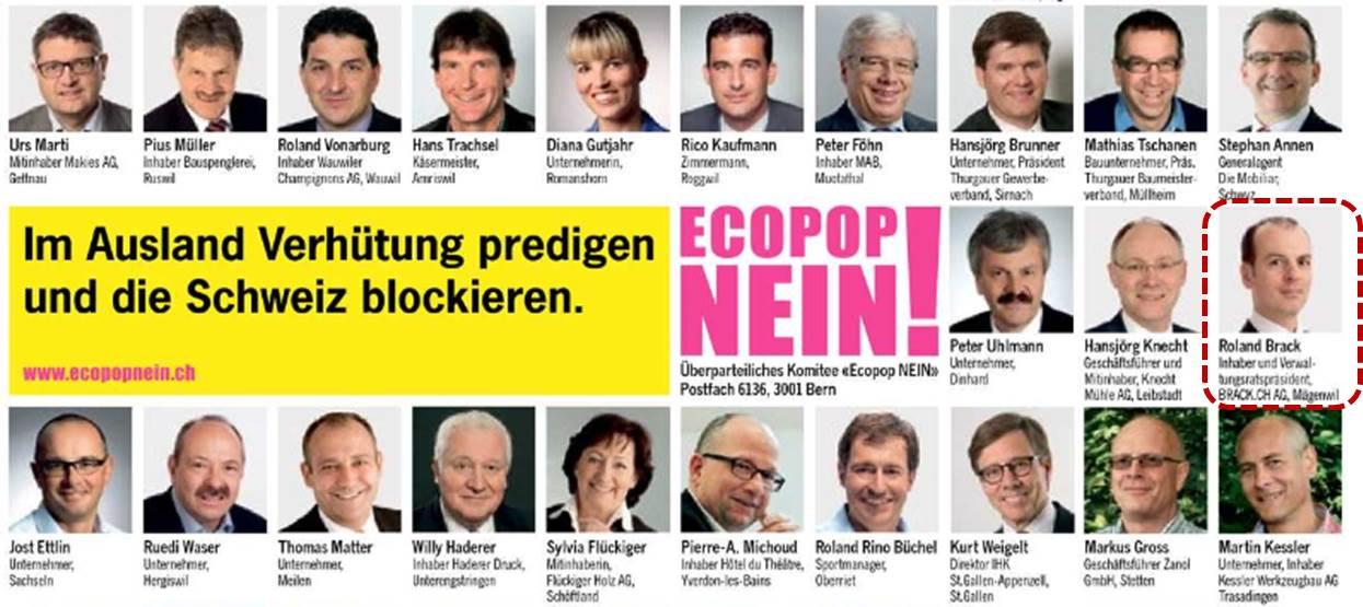 Nein zu Ecopop - Roland Brack, Brack.ch, im Nein-Komitee
