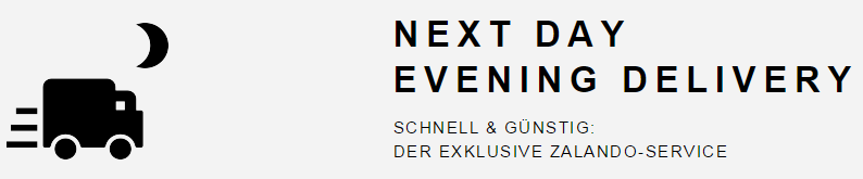 Zalando.ch - next day evening delivery