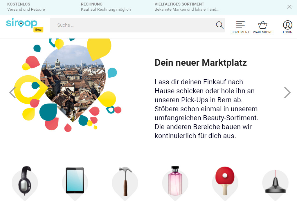 Startseite siroop.ch