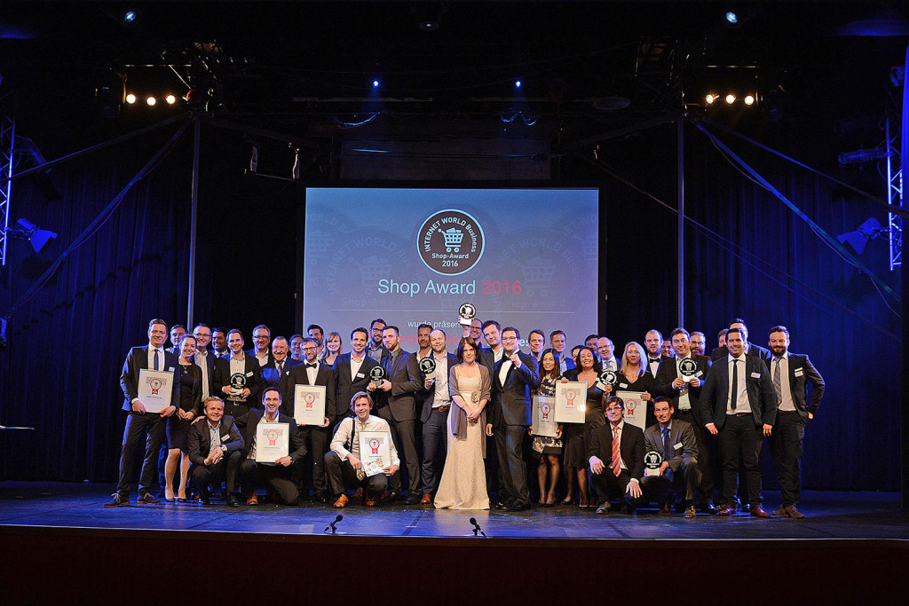 Bilder aller Sieger des Internetworld BUSINESS Awards 2016