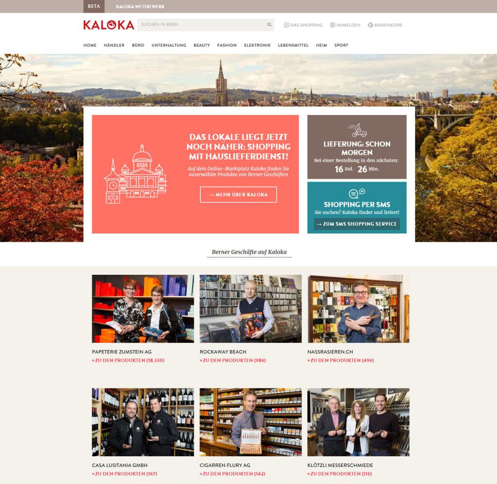 KALOKA - Marktplatz der Post für kleinere stationäre Händler (vorerst aus Bern)
