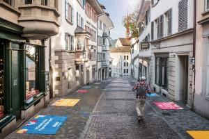 Guerilla-Aktion von Siroop in Zürich - Bildquelle: Siroop