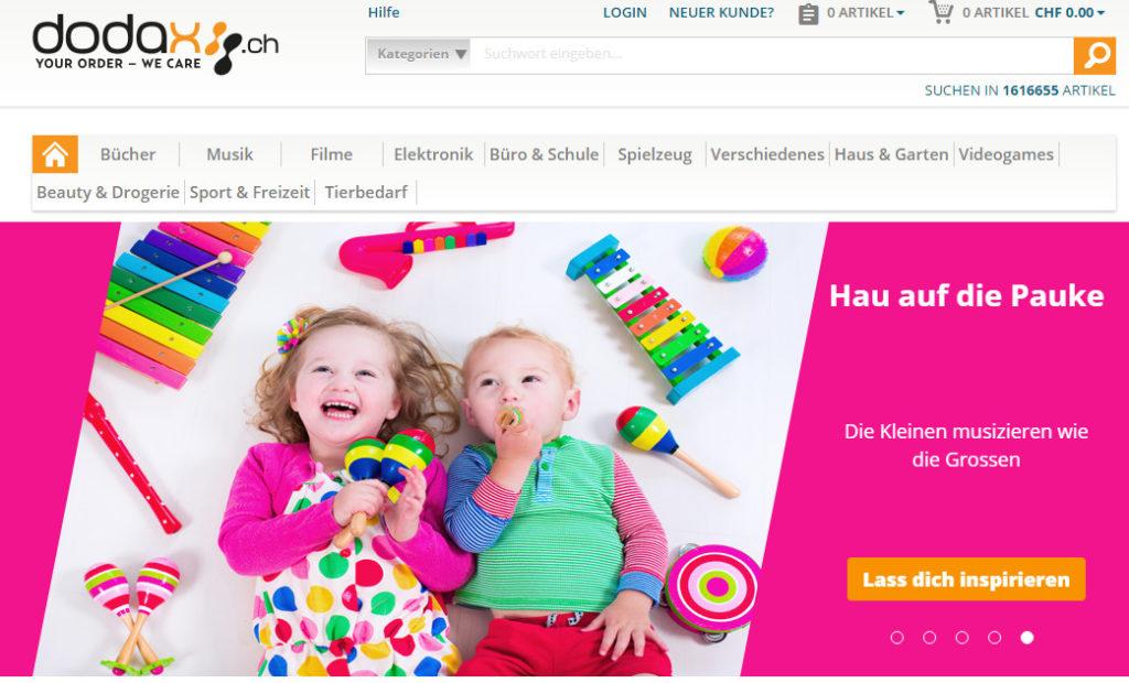Dodax.ch Startseite