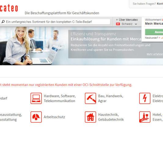 B2B-Beschaffungsplattform Mercateo - Schweizer Portal
