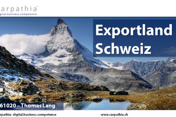 Schweiz als Exportland im Onlinehandel