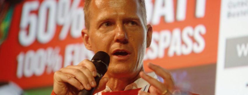 Stephan Widmer, Co-Gründer und Geschäftsführer von Beliani an der E-Commerce Connect Konferenz 2015 im Kaufleuten Zürich