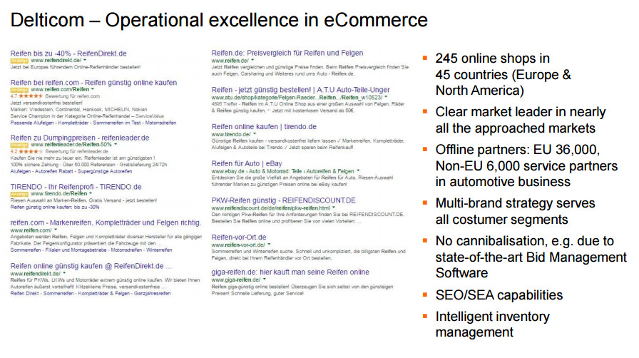 Operational Excellence im E-Commerce - Quelle: Delticom