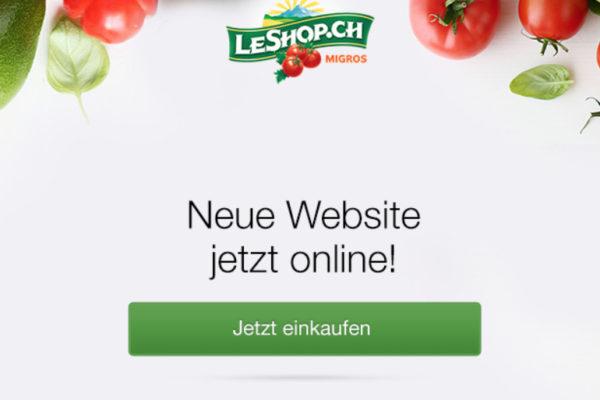 Lebensmittel Online: LeShop wagt ebenfalls Relaunch [Quick Review]