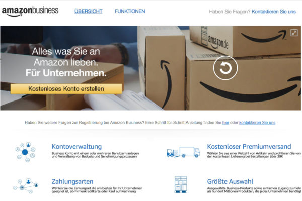 B2B: Amazon Business in Deutschland gestartet
