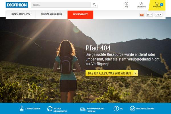 Sportartikel Online: Decathlon in der Schweiz gestartet