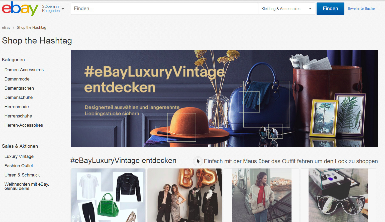 (Screenshot: eBay Luxury Vintage)
