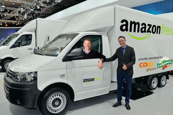 Philippe Locher und Dominique Huwyler sind ab dem 1. April für AmazonFresh unterwegs
