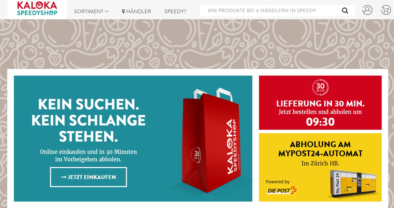 Startseite von speedy.kaloka.ch