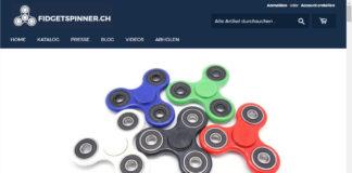Startseite von fidgetspinner.ch - aufgenommen am 10.6.2017 07:35