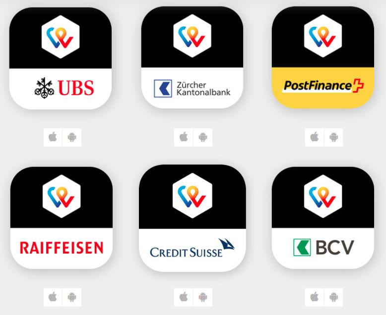 Fast ein Dutzend verschiedene TWINT-Apps in Apples Appstore