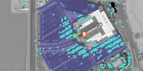 Parkplatz-Analyse via Satelliten-Aufnahme von Orbital Insighs