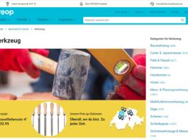 Siroop - Kategorienseite Werkzeuge