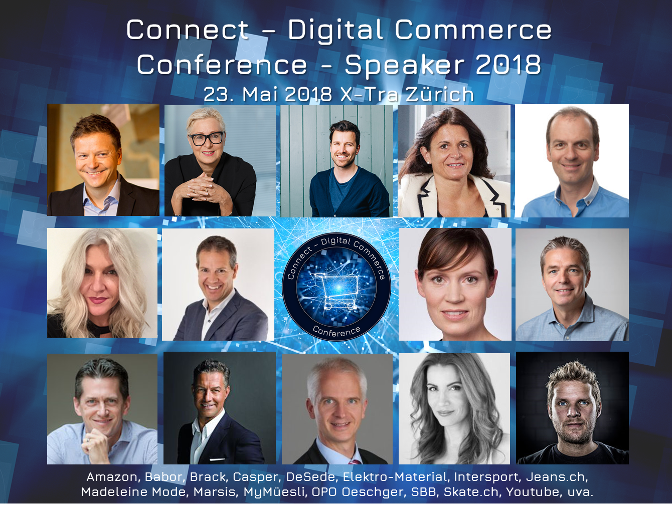 Auswahl Speaker 2018 der Connect - Digital Commerce Conference