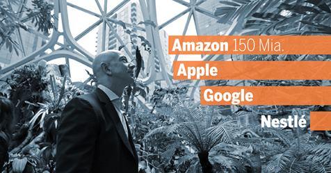 Wertvollste Marken der Welt - Nr. 1 Amazon mit einem Plus von USD 44 Mrd. Bildquelle: tagesanzeiger.ch