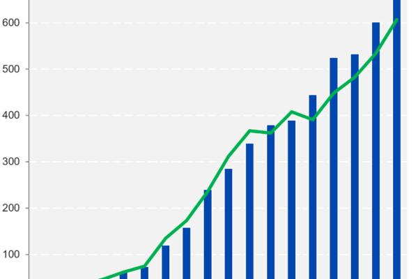 Personal- und Umsatzentwicklung der Competec Gruppe - Quelle: Competec