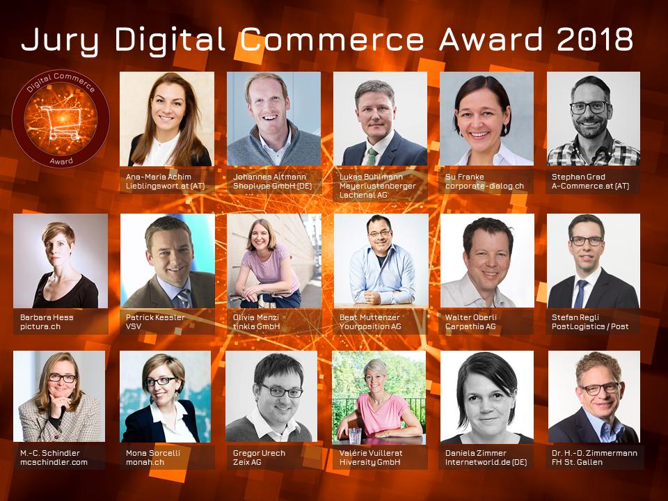 Unabhängige und neutrale Jury des Digital Commece Awards 2018