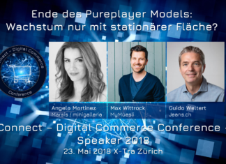 Panel: Ende des Pureplayer Models: Wachstum nur mit stationärer Fläche? Connect - Digital Commerce Conference 2018