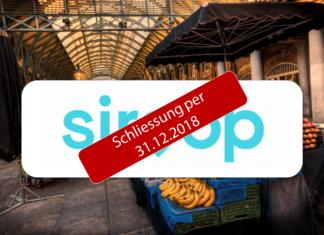 Marktplatz Siroop wird per 31.12.2018 geschlossen