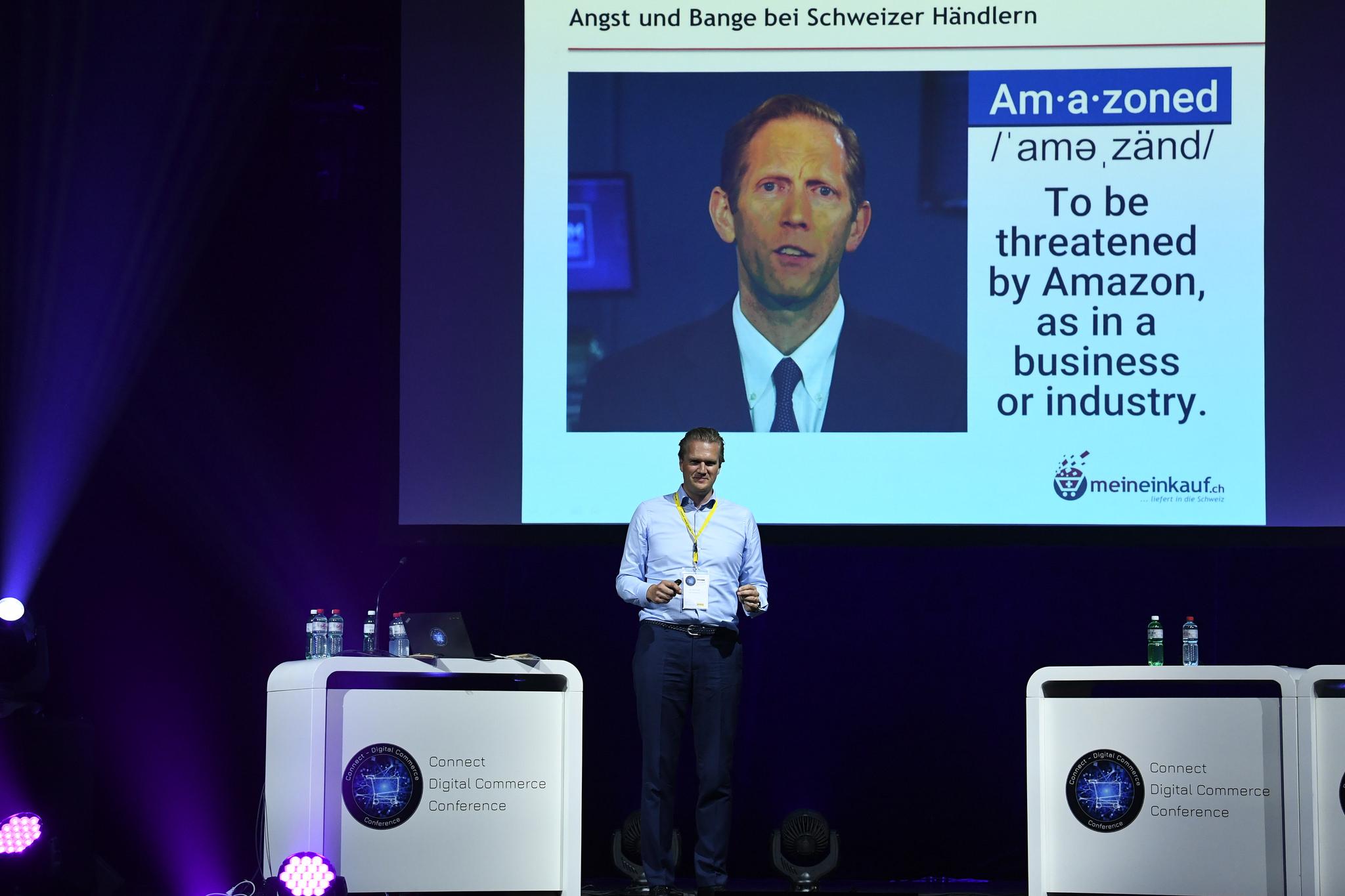 Dr. Jan Bomholt, CEO meinEinkauf.ch - an der Connect - Digital Commerce Conference 23. Mai 2018 in Zürich
