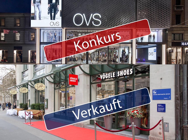 Ausgevögelet im Schweizer Modehandel; Charles Vögele Retter OVS meldet Nachlassstundung an, Vögele Shoes nach Polen verkauft.