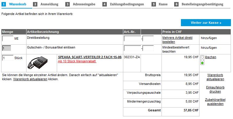 Warenkorb Bei Conrad Inklusive Versand Und Verpackungskosten