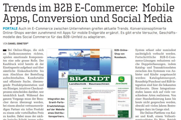 Trends im B2B E-Commerce: Mobile Apps, Conversion und Social Media
