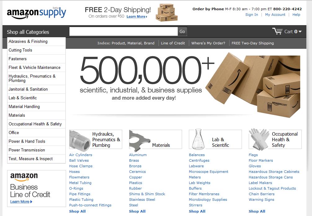 Amazon startet in den B2B E-Commerce mit amazonsupply