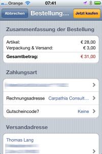 Amazon iApp nach Update