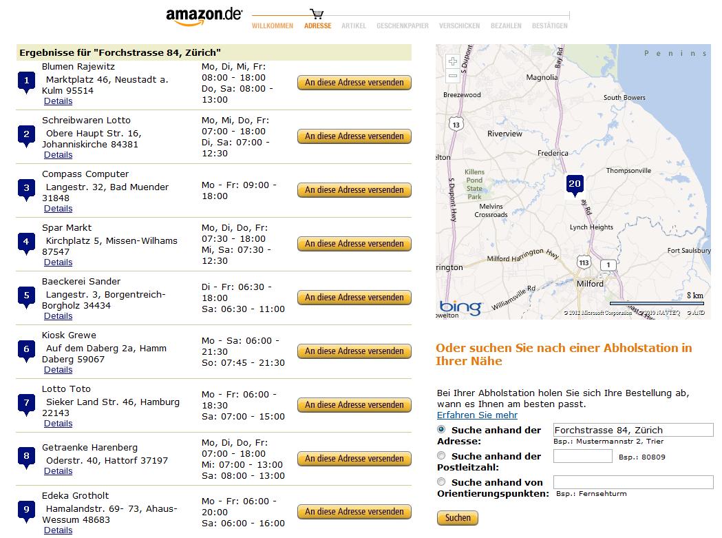 Holt sich Amazon Valora als Partner in der Schweiz?