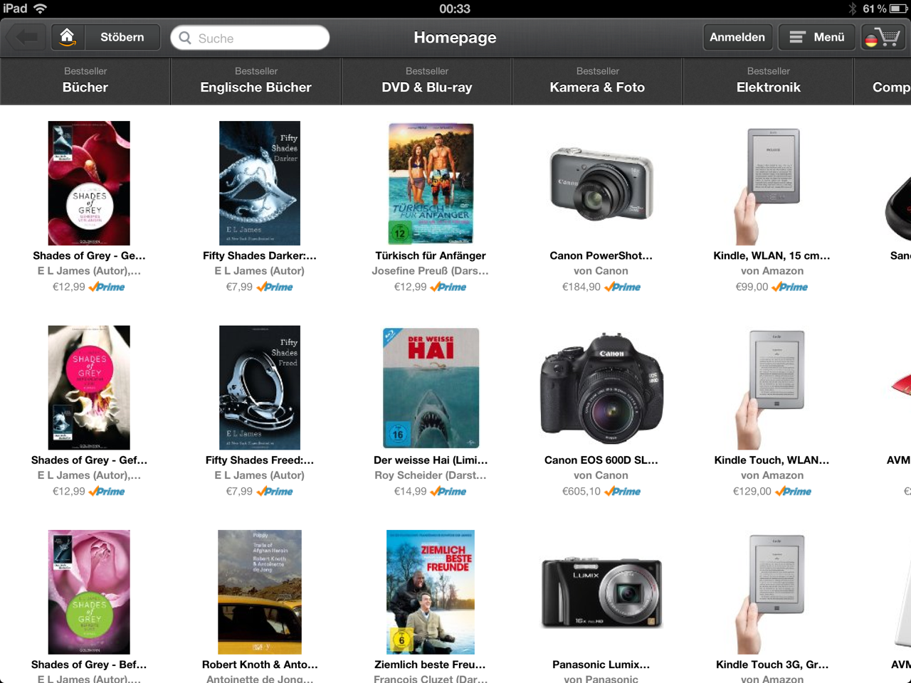 Amazon Windowshop iPad App