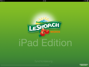 LeShop Startscreen