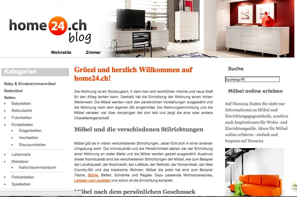 Home24 bereitet den Markteintritt in der Schweiz vor