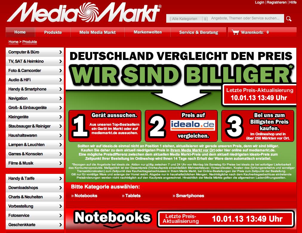 Media Markt vs Internet: bauernschlaue Schummelei?
