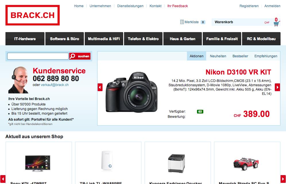 Startseite von brack.ch