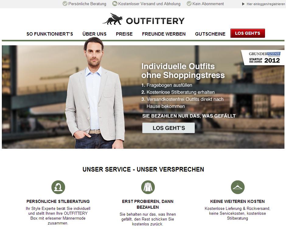 Outfittery in der Schweiz gestartet