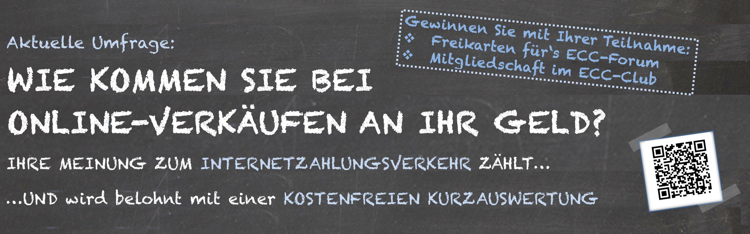 Umfrage zu Zahlungsmitteln im Onlinehandel vom ECC Köln
