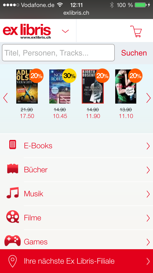 ExLibris mobile optimiert