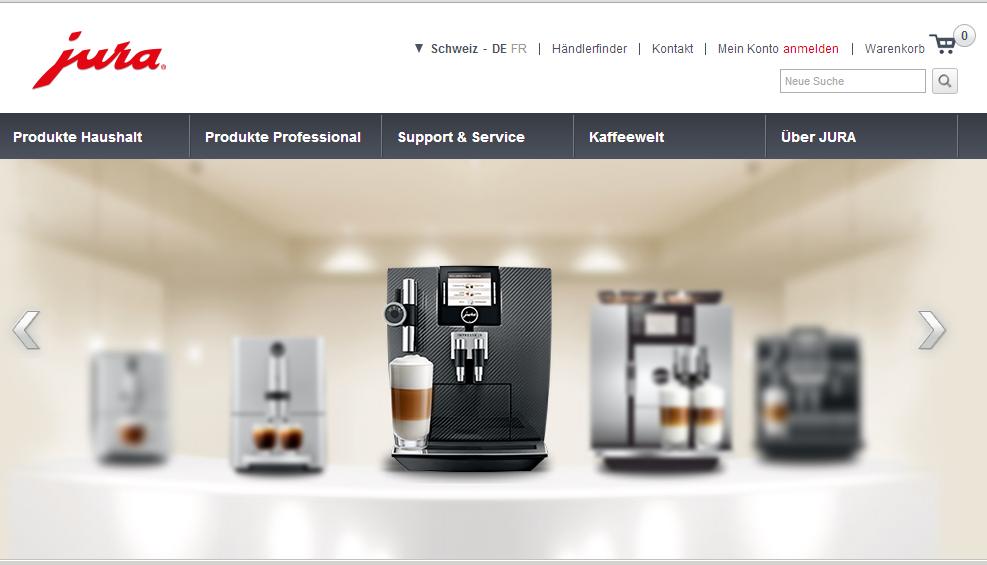 Jura mischt nun mit im E-Commerce. Ein neues Erlebnis oder doch nur kalter Kaffee? (Teil 1/2)