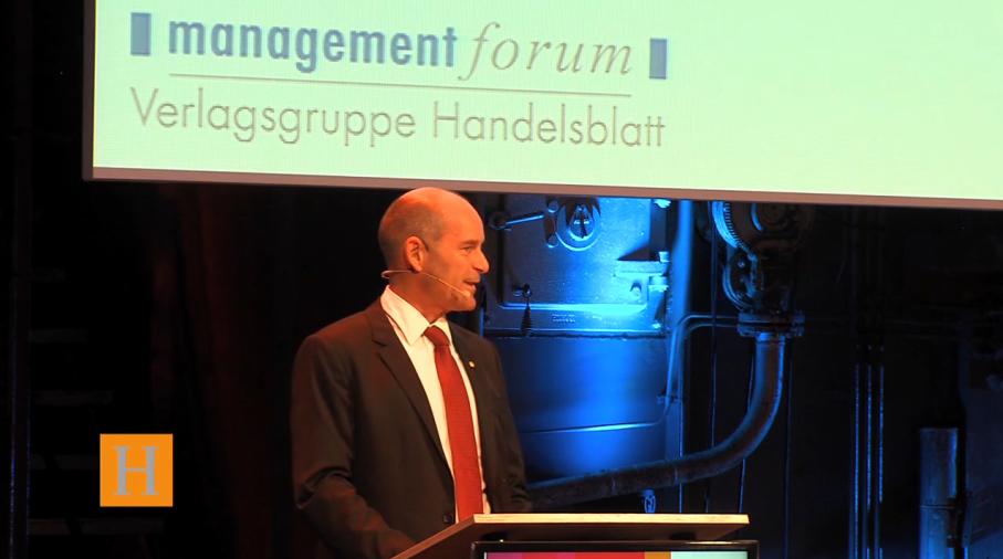 """Karl-Erivan Haub, Chef der Tengelmann-Gruppe und """"Old-School-Händler"""" auf der Neocom 2013 in Düsseldorf"""