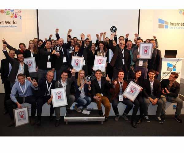 Die Sieger beim INTERNET WORLD Business Shop-Award 2014 - Bildquelle: Internetworld