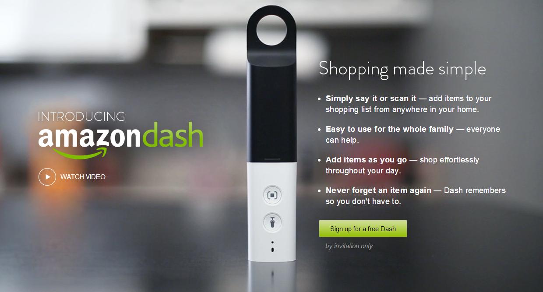 Amazon wird mit dem Dash wohl nicht nur den Lebensmittel-Einkauf revolutionieren