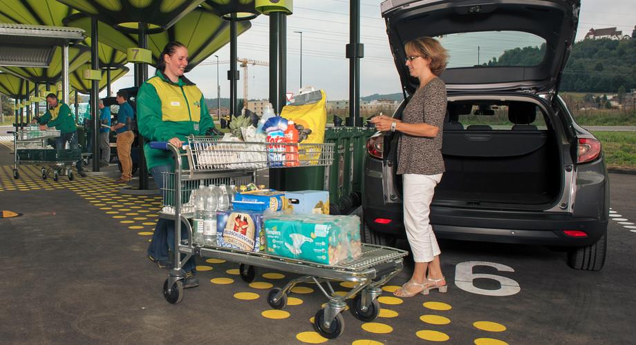 Vision Supermarkt 2020 - Direkte Lieferung in den Kofferraum wie heue bei den LeShop Drive-Ins